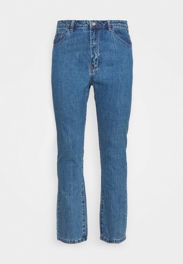 WRATH HIGH WAISTED - Straight leg jeans - mid auth blue