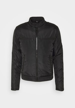 PADDED MOTO JACKET - Light jacket - black
