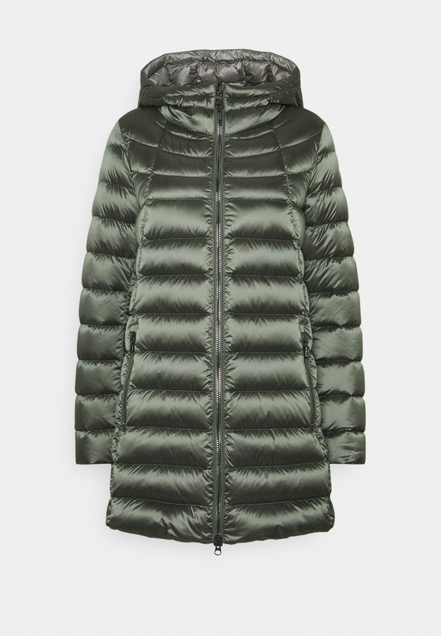 Down coat - matcha/dark steel