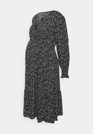 CROSSOVER MIDI MATERNITY - Žerzejové šaty - black floral