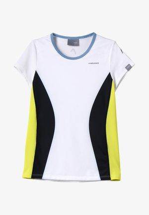 MIA  - T-shirt z nadrukiem - white/yellow