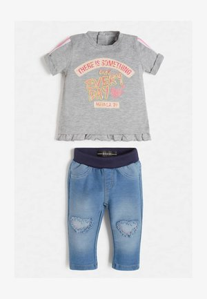 SET - Trousers - grau