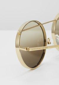 Alexander McQueen - SUNGLASS UNISEX - Occhiali da sole - gold-coloured/brown - 2
