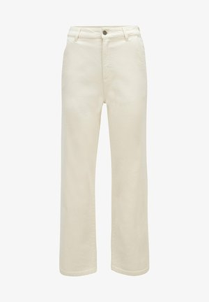 Straight leg jeans - open white