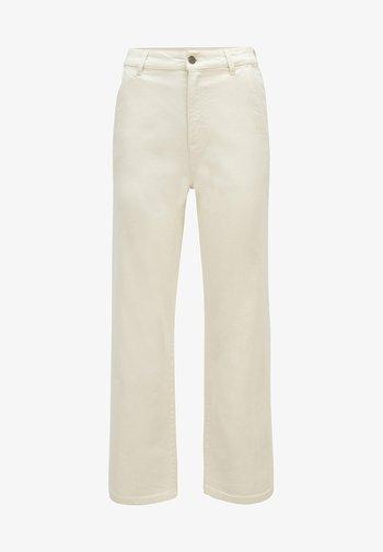 Straight leg jeans - open white