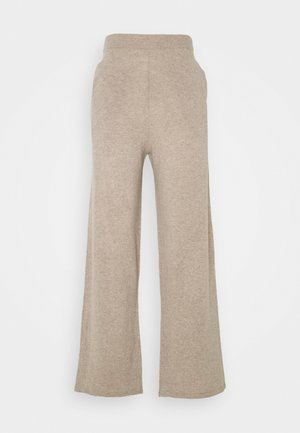 AMARIS STRAIGHT TROUSERS - Tygbyxor - beige