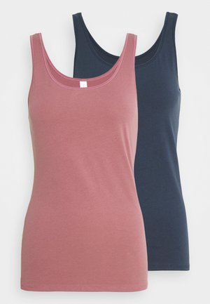 Undershirt - blue,dark red