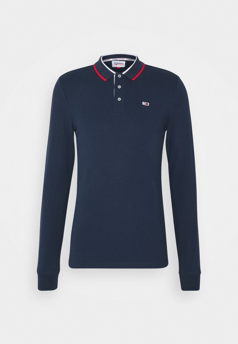 Tommy Jeans - STRETCH POLO UNISEX - Polo - twilight navy