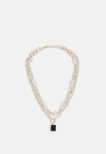 BLACKI COMBI NECKLACE - Necklace - gold-coloured