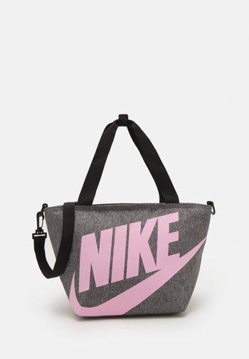 LARGE INSULATED LUNCH SHOULDER BAG UNISEX - Across body bag - dark grey heather