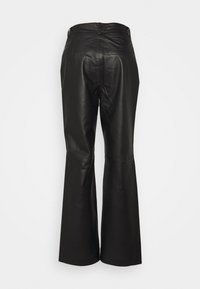 Object Tall - OBJSTEPHANIE PANT - Leather trousers - black - 1