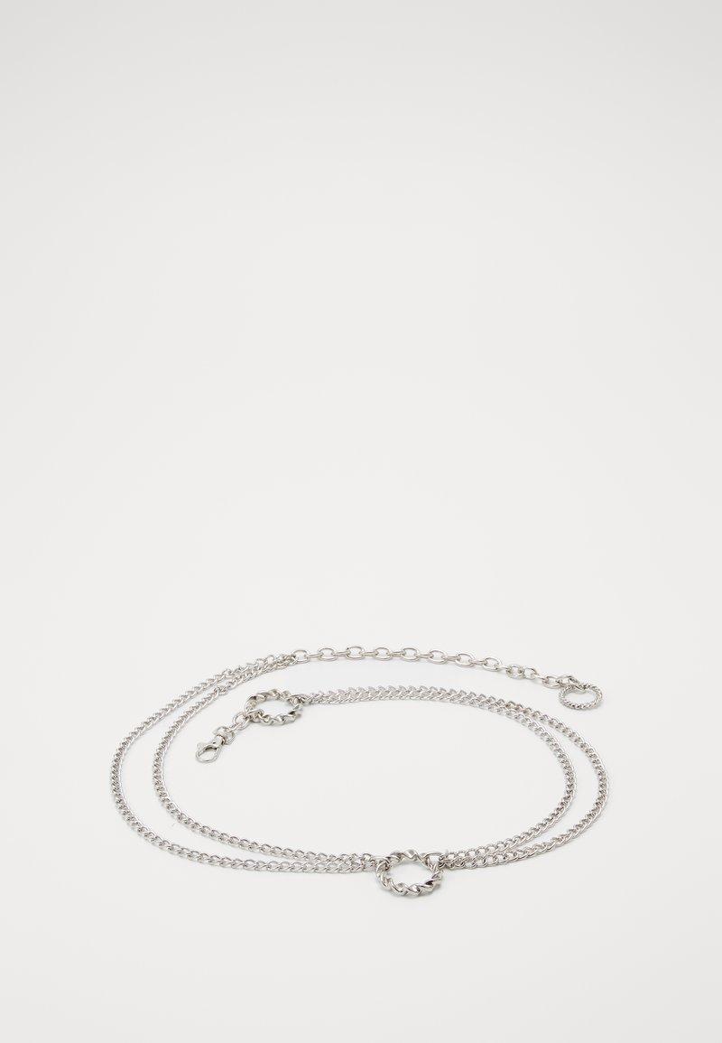 Gina Tricot - NELLA CHAIN BELT - Belte - silver-coloured
