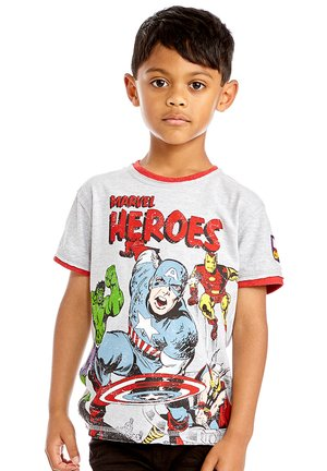 MARVEL HEROES COMIC TEE - Print T-shirt - grey