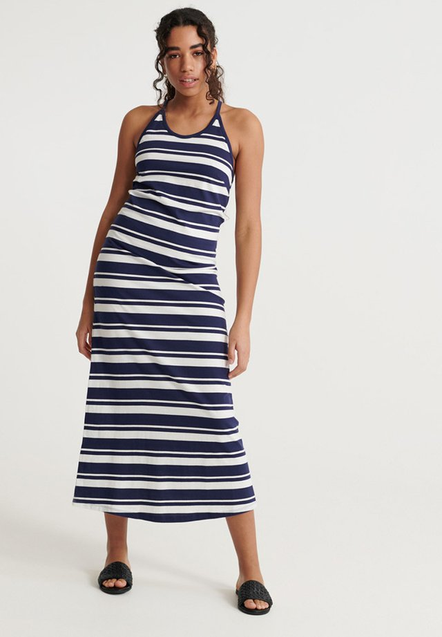 SUPERDRY SUMMER STRIPE MAXI DRESS - Day dress - atlantic navy