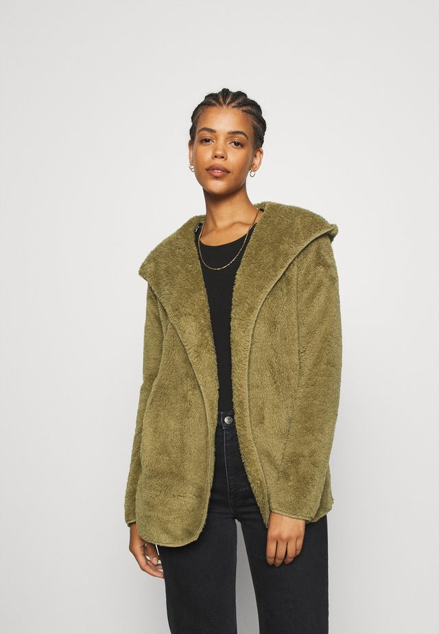 ONLNEW CONTACT HOODED - Chaqueta fina - martini olive