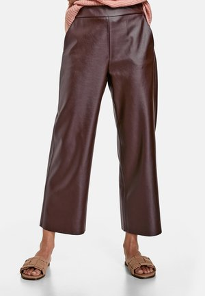 Trousers - dark chestnut