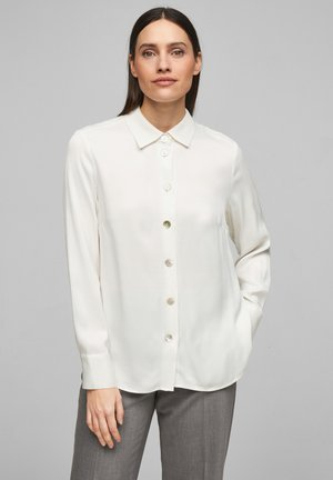 Button-down blouse - soft white