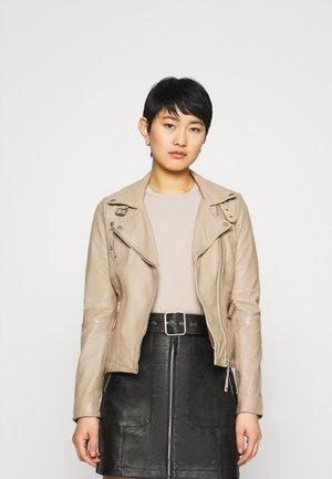 BIKER PRINCESS - Leather jacket - driftwood