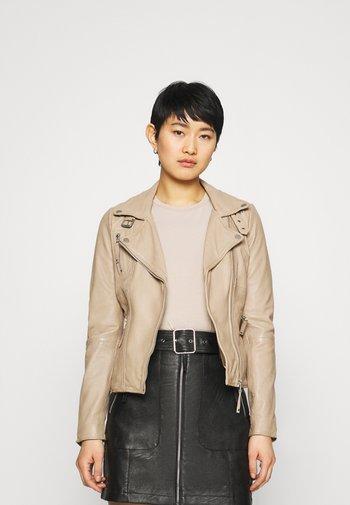 PRINCESS - Leather jacket - driftwood