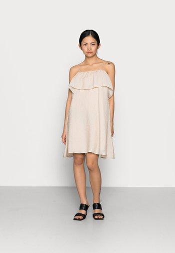 OBJALVILDA MINI DRESS - Korte jurk - sandshell