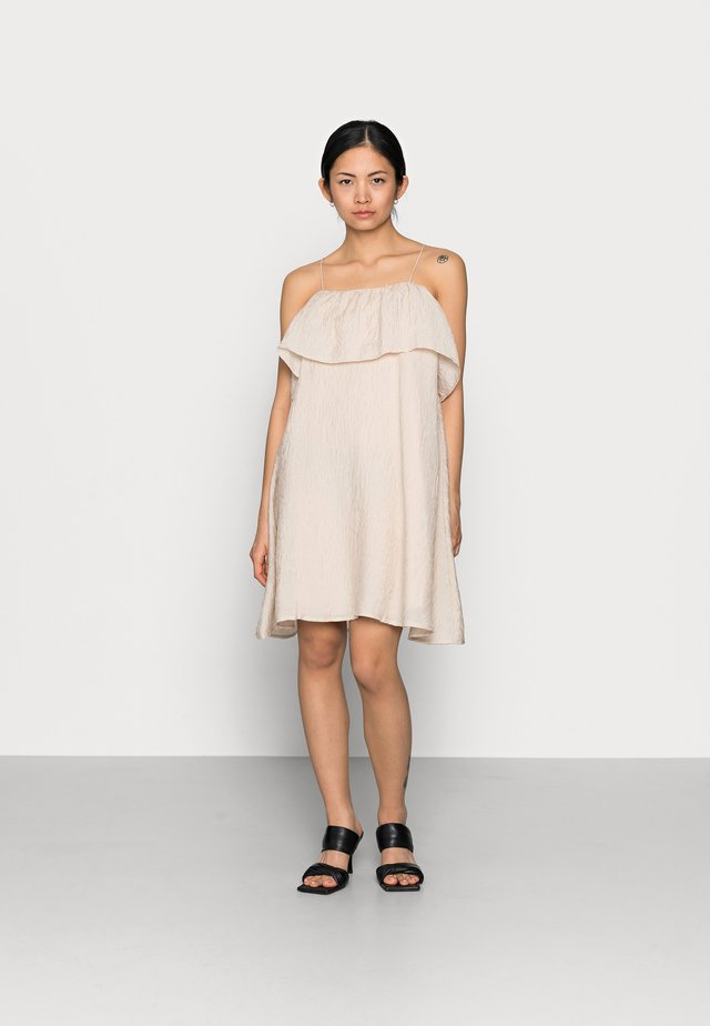 OBJALVILDA MINI DRESS - Robe d'été - sandshell