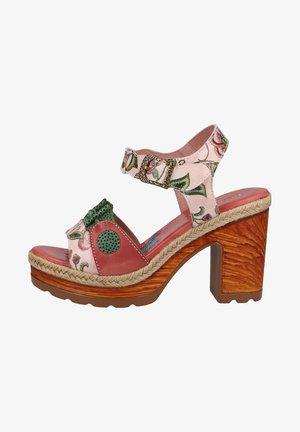 Sandalen met plateauzool - rose