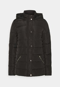 Dorothy Perkins Tall - GLOSSY HOODED JACKET - Winter jacket - black - 4