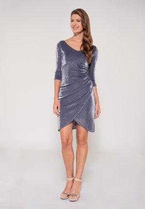 Cocktail dress / Party dress - dark blue / light grey