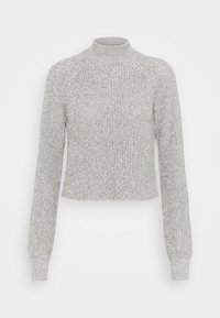 Even&Odd - CROPPED PERKIN NECK - Svetr - light grey melange - 0
