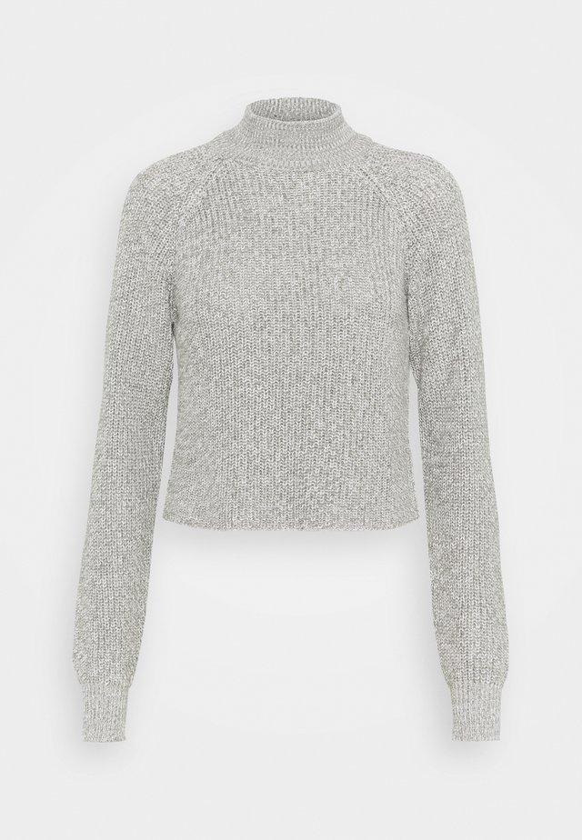 CROPPED PERKIN NECK - Jumper - light grey melange
