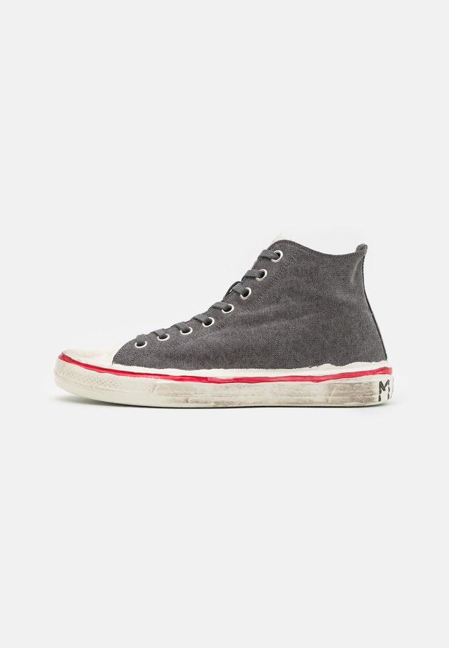 Sneakers hoog - black/stone white