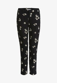 Oui - Trousers - black offwhite - 4