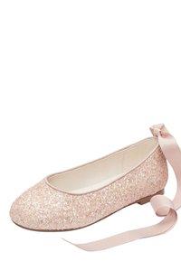 Next - PEWTER GLITTER TIE  - Ballet pumps - pink - 2