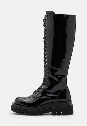 DIABOL - Stivali con plateau - black box