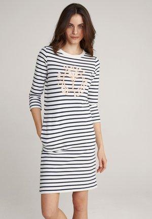 Jersey dress - navy/weiß