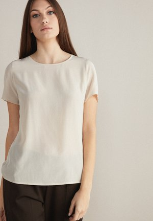 Basic T-shirt - mottled light yellow