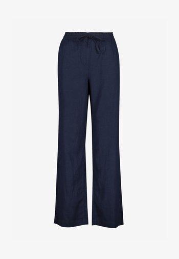 Trousers - mottled dark blue