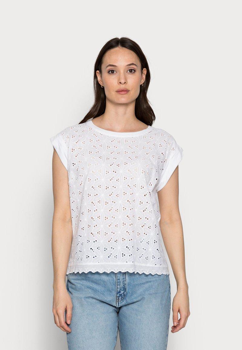 Freequent - T-shirt print - brilliant white