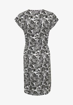 Jerseyjurk - black block print