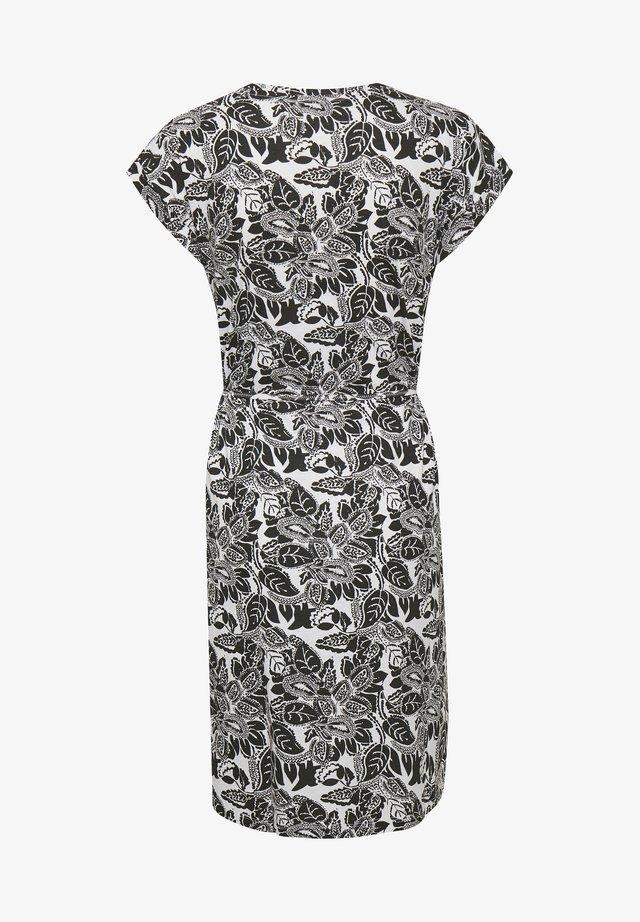 Sukienka z dżerseju - black block print