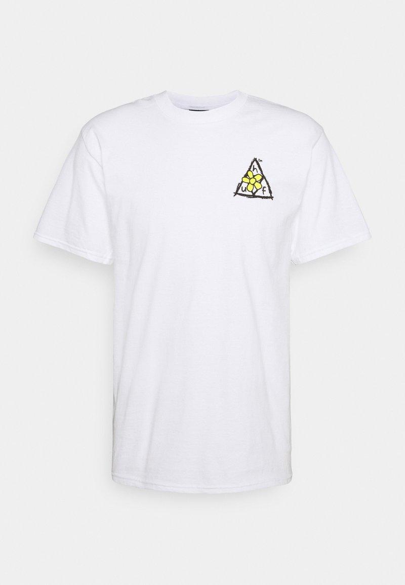 HUF - PUSHING DAISIES TEE - Print T-shirt - white