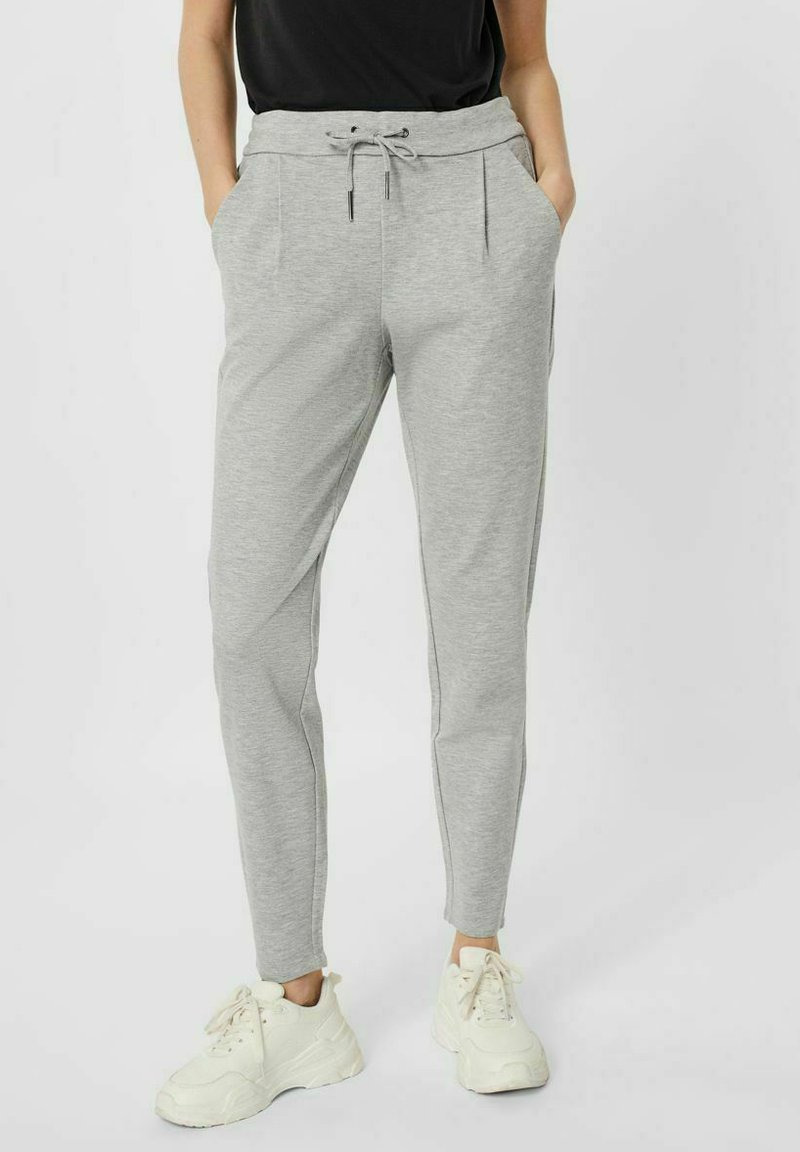 Vero Moda - VMEVA  - Trousers - light grey melange