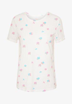 CREW NECK - Print T-shirt - white