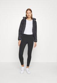 Calvin Klein Jeans - TAPE LOGO - Legíny - black - 1