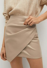 Mango - Wrap skirt - gris clair/pastel - 4