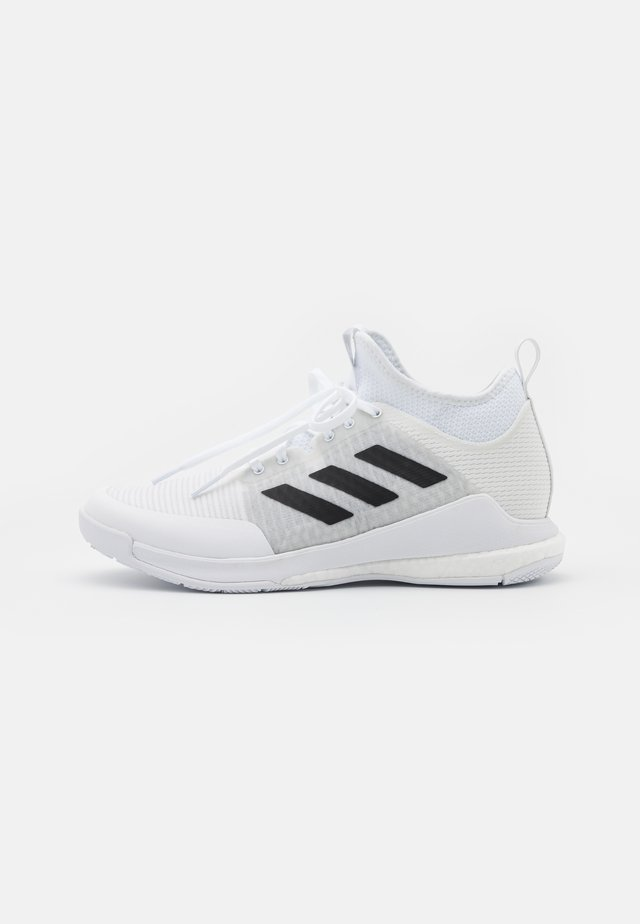 CRAZYFLIGHT MID - Volleyball shoes - footwear white/core black/silver metallic