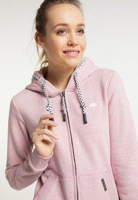 Schmuddelwedda - Zip-up sweatshirt - rosa melange - 3