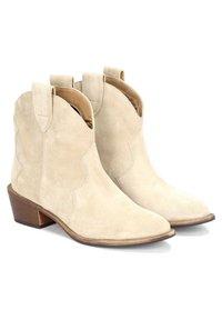 Kazar - VIOLA - Cowboy/biker ankle boot - beige - 2