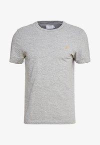 DENNIS SOLID TEE - T-shirt print - gravel marl