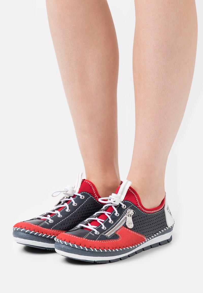 Rieker - Volnočasové šněrovací boty - blau